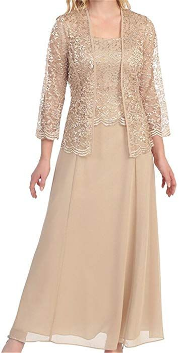 H.S.D Womens Lace Mother of the Bride Dress Long Formal Gowns Champagne at  Amazon Women s Clothing store  fa21a805e