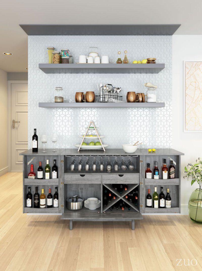 Rave Old Gray Bar – EMFURN   Dining room bar, Home bar decor, Diy ...