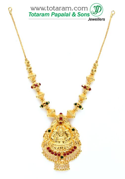 Buy 22 Karat Gold Jewelry Diamond Jewellery From India 22k Gold Lakshmi Neckla Gold Jewelry Indian Gold Necklace Indian Bridal Jewelry Gold Jewelry Stores