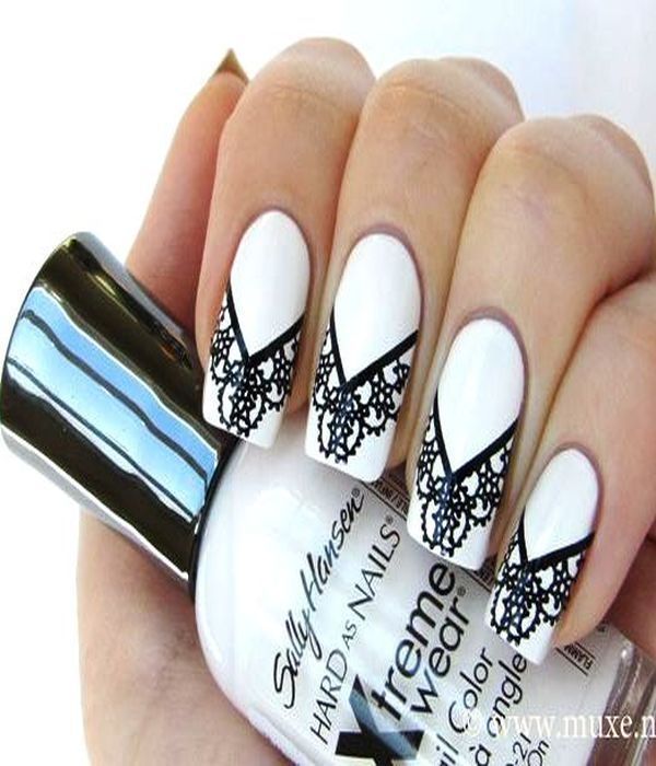stylish [black and white nail art designs] | Hair, Make-up & nails ...