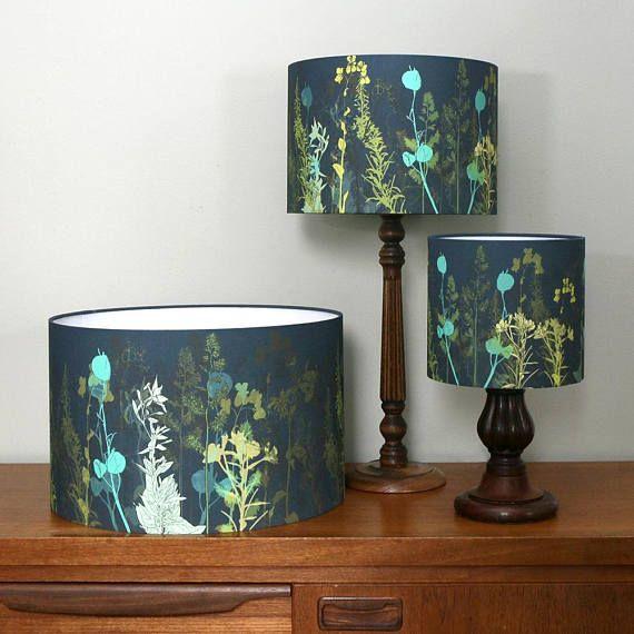Botanical Lampshade Various Sizes Lamp, Blue And Green Lamp Shade