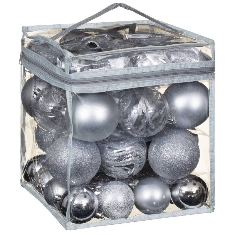 Decorate Your Christmas Tree By Adding Some Sparkling Luxury Baubles Four Sets Of Colours Blue Silver B Cheap Christmas Trees Xmas Baubles Christmas Luxury