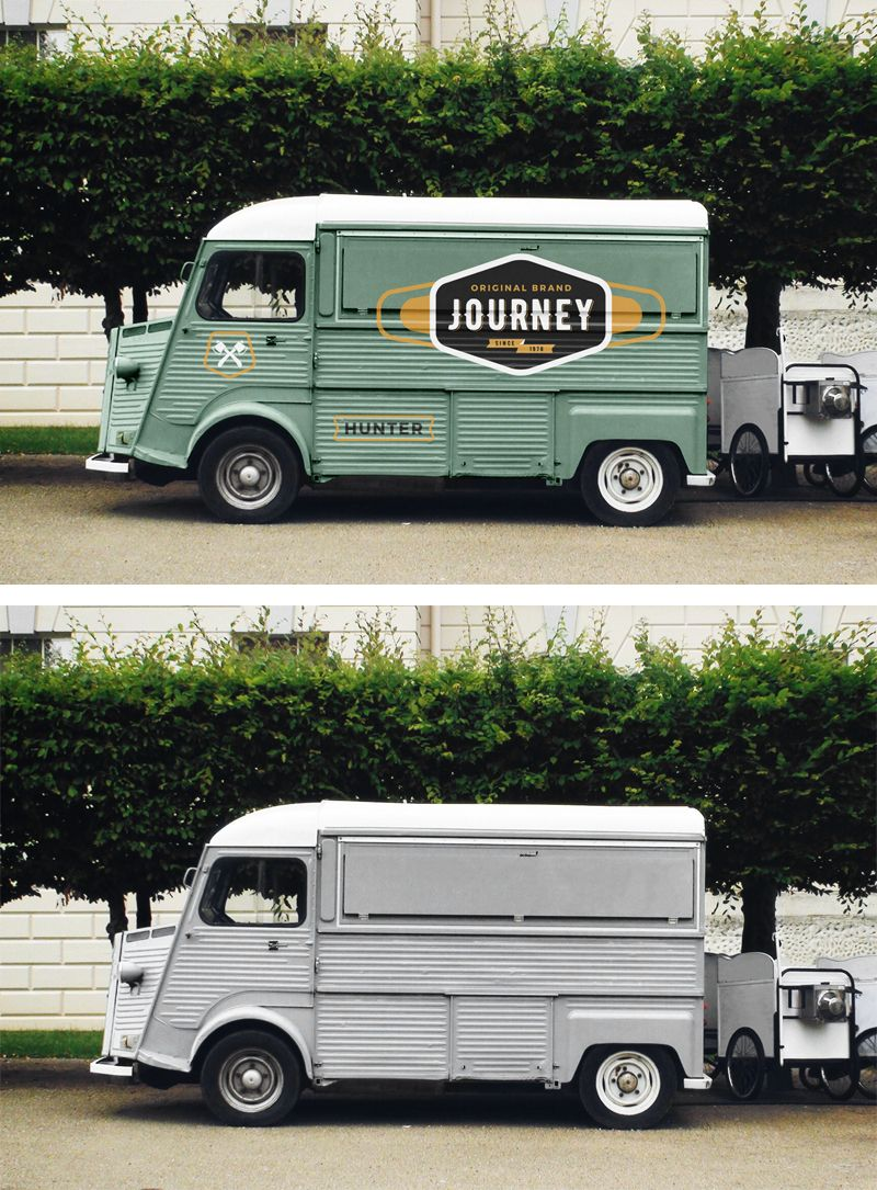 Food truck mockup perfect for the presentation of your