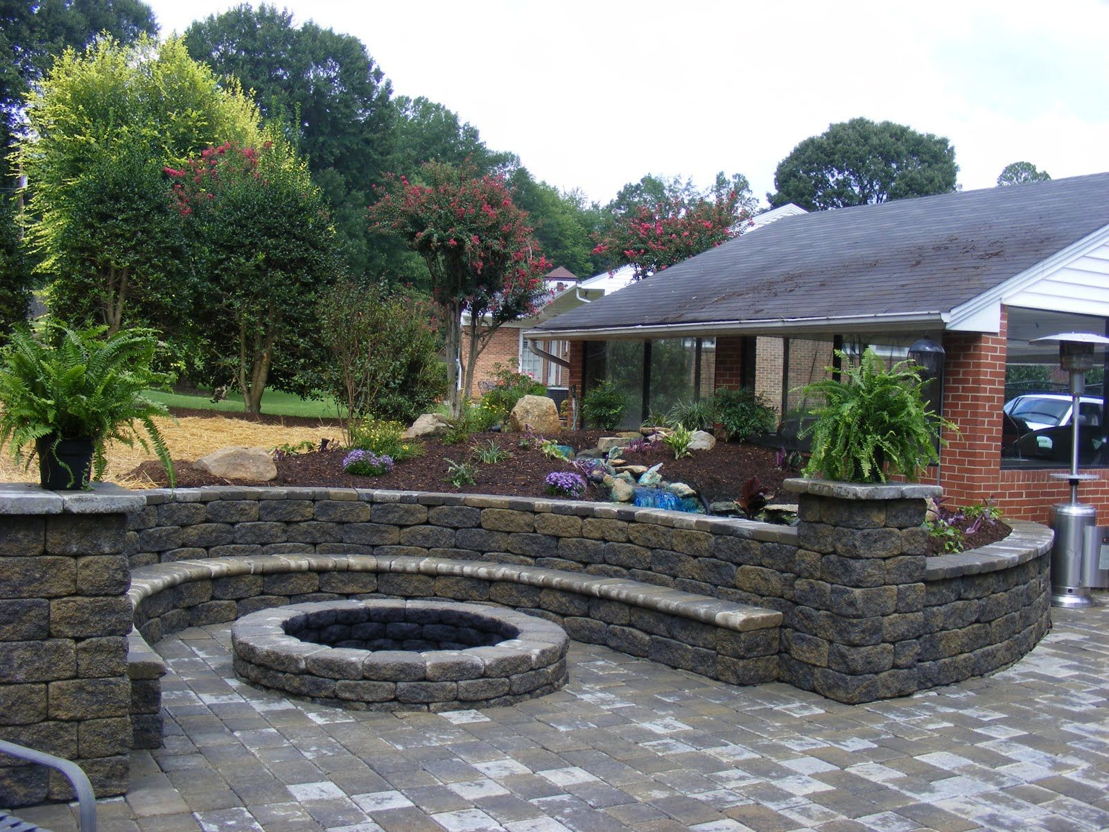 Hmmmmm Fire Pit Landscaping Patio Stones Stone Fire Pit