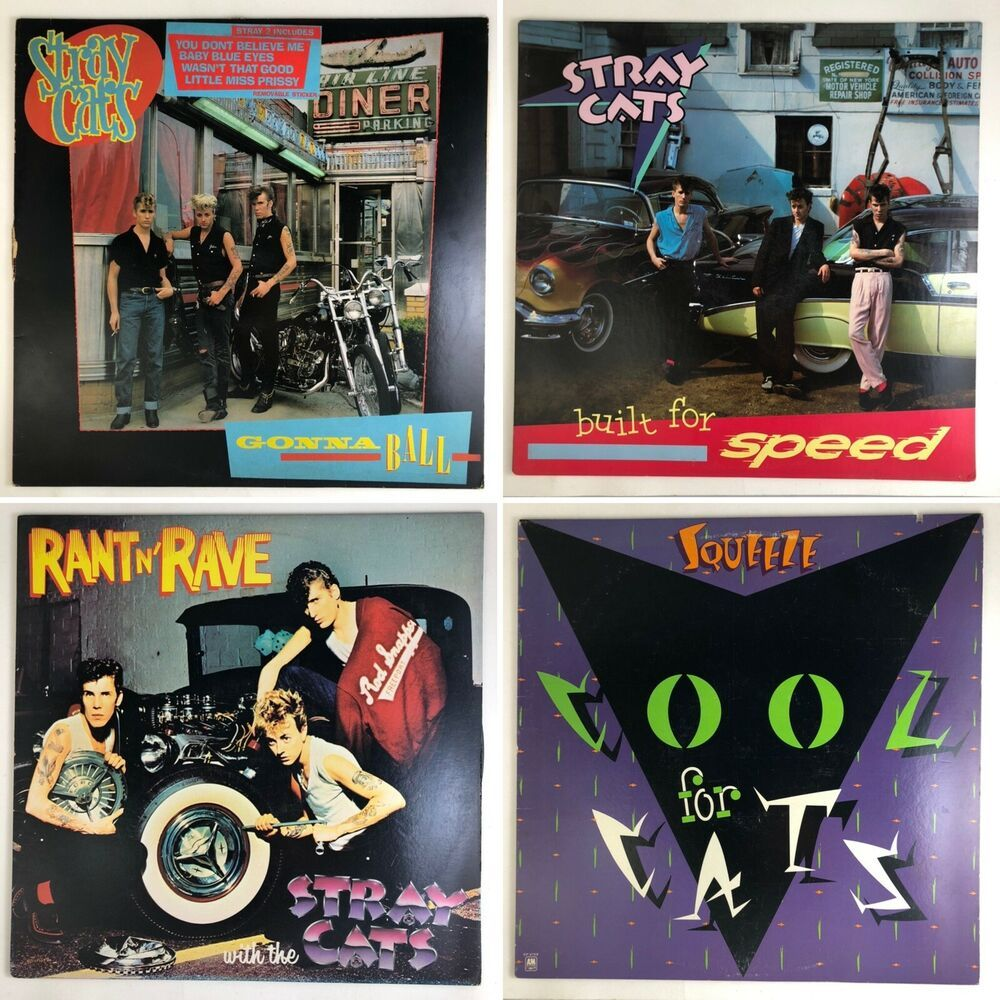 Details about Lot of 4 Stray Cats Built For Speed Rant N