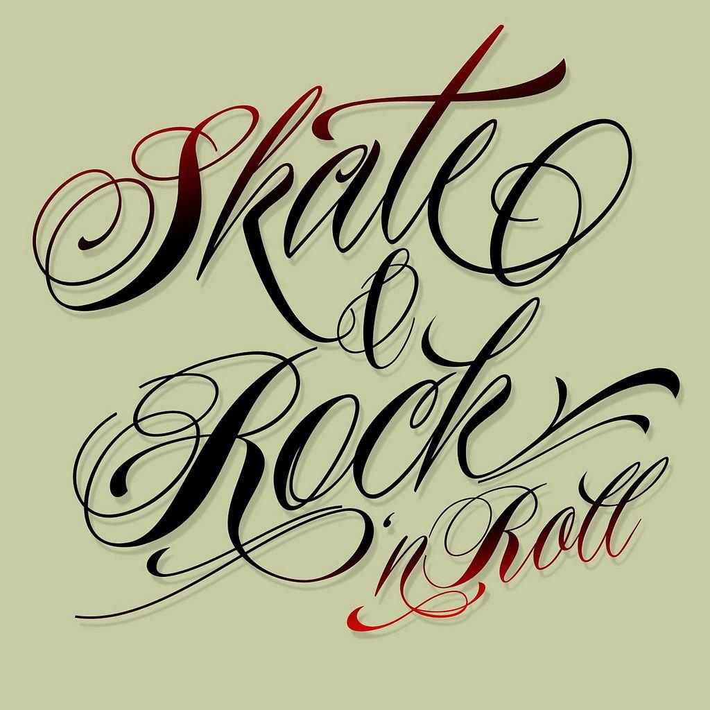 Skate and Rock 'n Roll   Tattoo