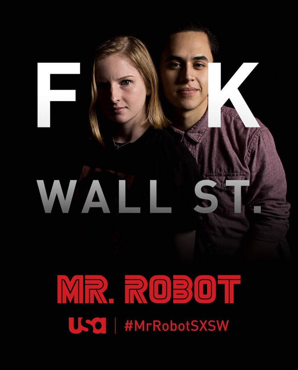 shoutout to bernie and my favorite tv show of 2015 #FeelTheBern #MrRobotSXSW by ernesto_grey