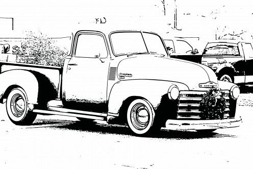 Free coloring sheets pictures of vintage cars for kids Bring a
