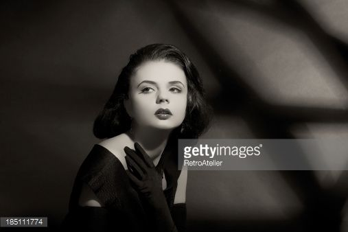 Stock-Foto : Portrait in film noir.