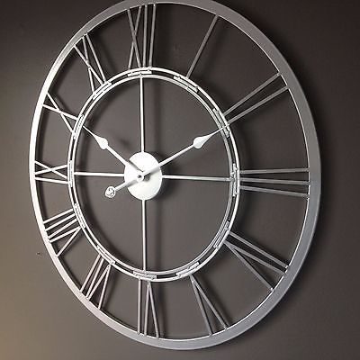 New York Giants Round Chrome Wall Clock