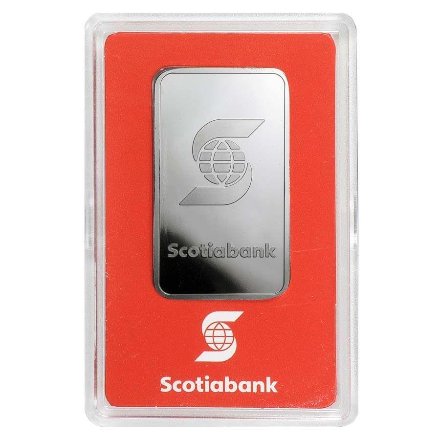 1 Oz Platinum Bar Scotiabank Valcambi Suisse 999 Fine In Assay Platinum Silver Bars Ancient Coins