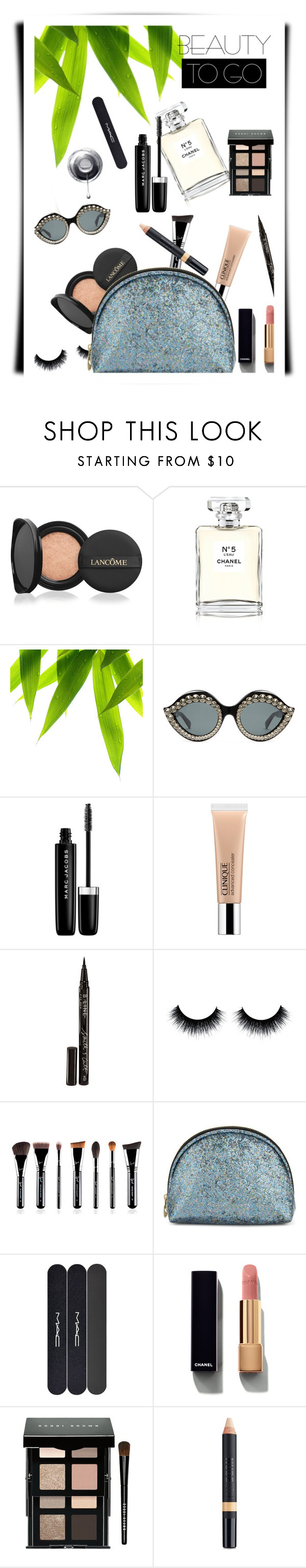 """""""#travelbeauty"""" by rasa-j ❤ liked on Polyvore featuring beauty, Lancôme, Chanel, Gucci, Marc Jacobs, Clinique, Smith & Cult, Sweet and Sour, MAC Cosmetics and Bobbi Brown Cosmetics"""