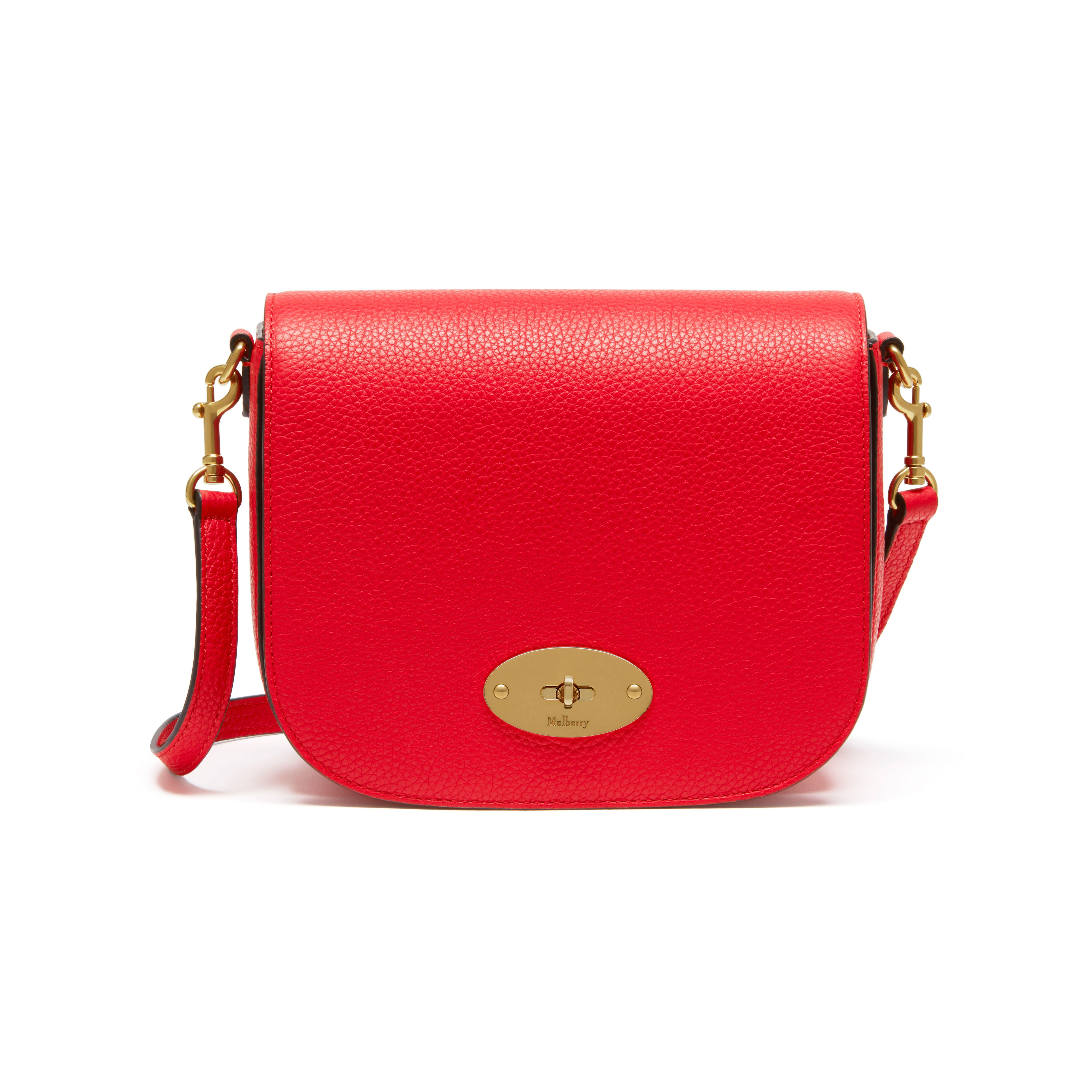 0a05f6a739ce Shop the Small Darley Satchel in Small Classic Grain in Fiery Red Leather  at Mulberry.com. The Small Darley Satchel has retro mini-bag appeal