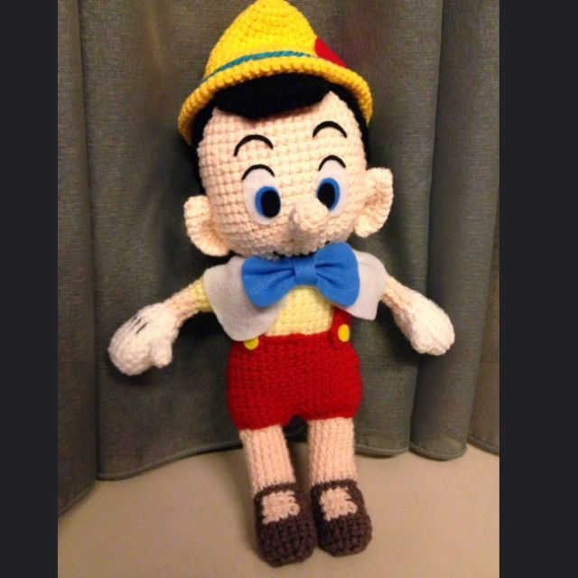 Pinocchio crochet on carousell crochet dolls and animals for Pinocchio hat template
