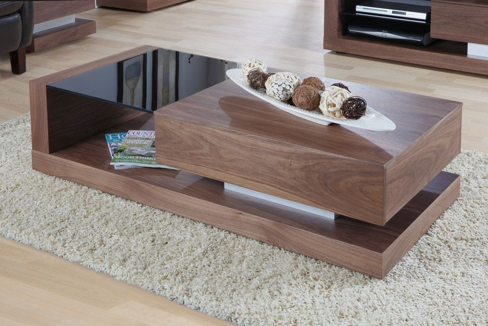 jual cube walnut coffee table jf613 | storage drawers, walnut