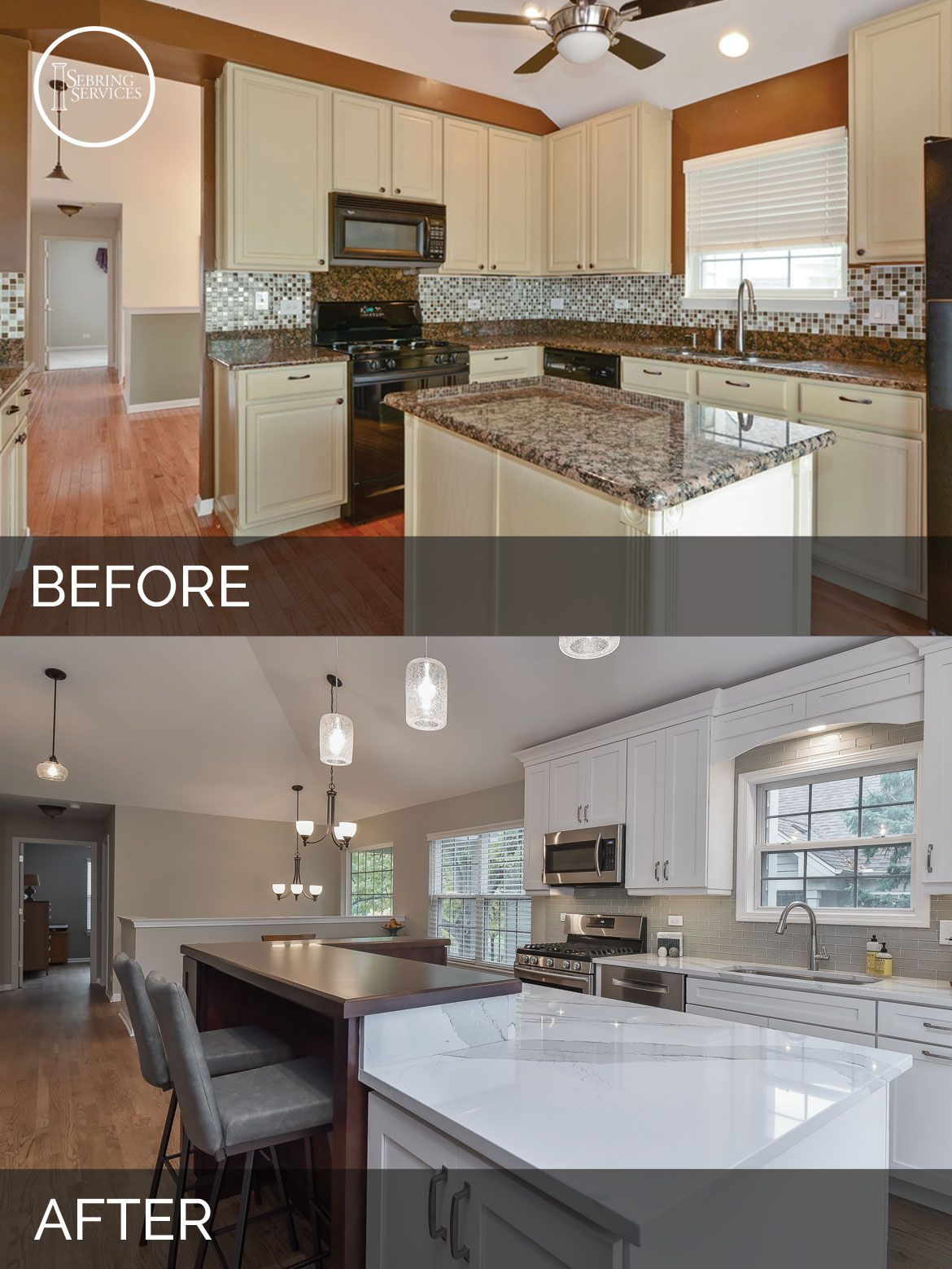 Bill & Carol's Kitchen Before & After Pictures | Kitchens and House