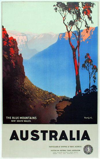 james northfield the blue mountains póster viaje pinterest