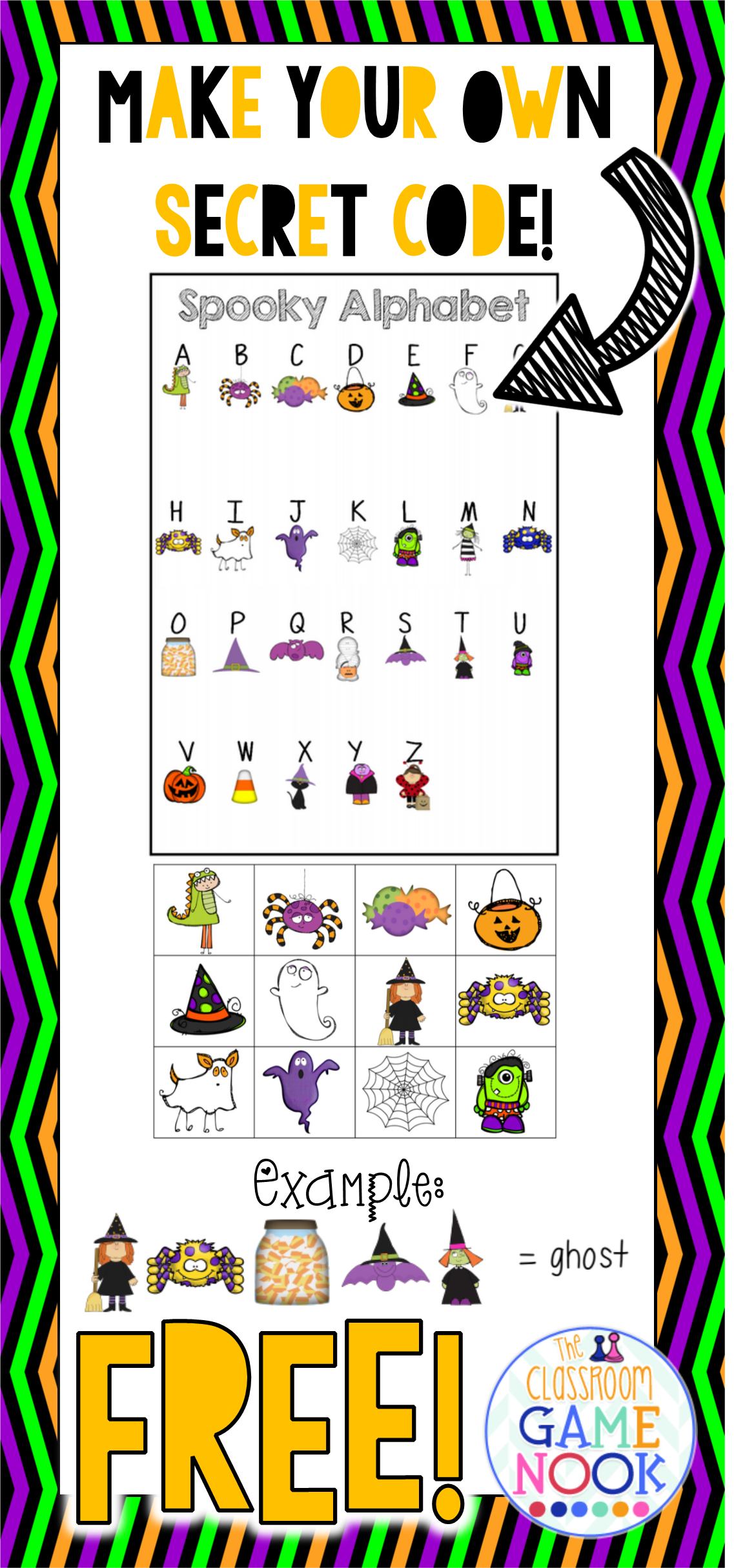 Create Secret Picture Codes For Your Spelling Vocabulary