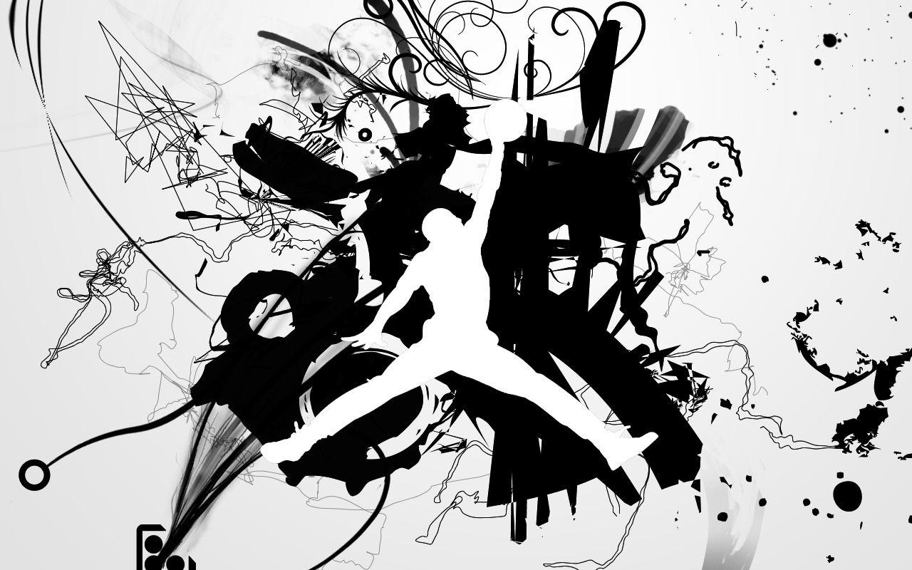 Michael Jordan Black And White Wallpaper Wide Gbs Logo