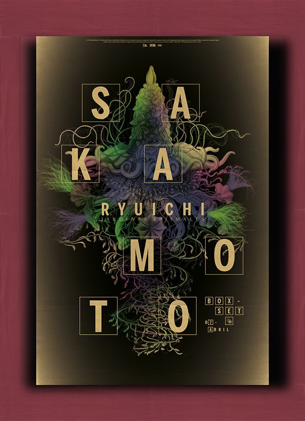 Ryuichi Sakamoto - Jardines Abismales - CD de lujo on Behance