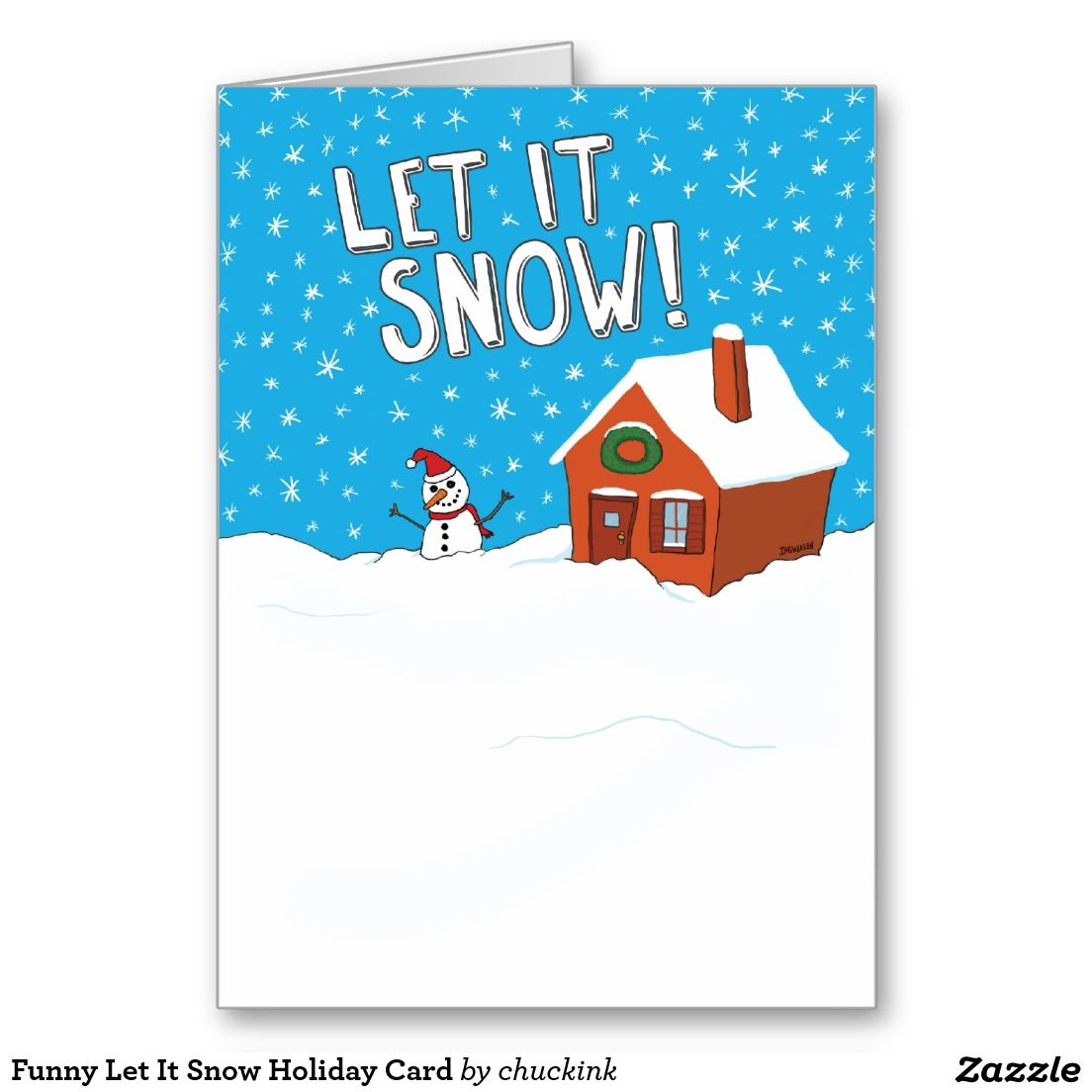 Funny Let It Snow Holiday Card | Funny Christmas Cards | Pinterest ...