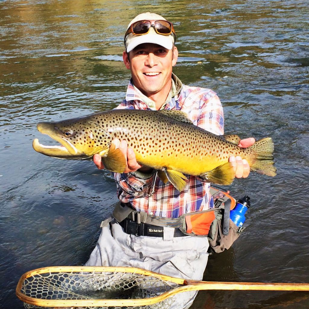Spencer animas river brown trout colorado fly fishing for Durango co fly fishing