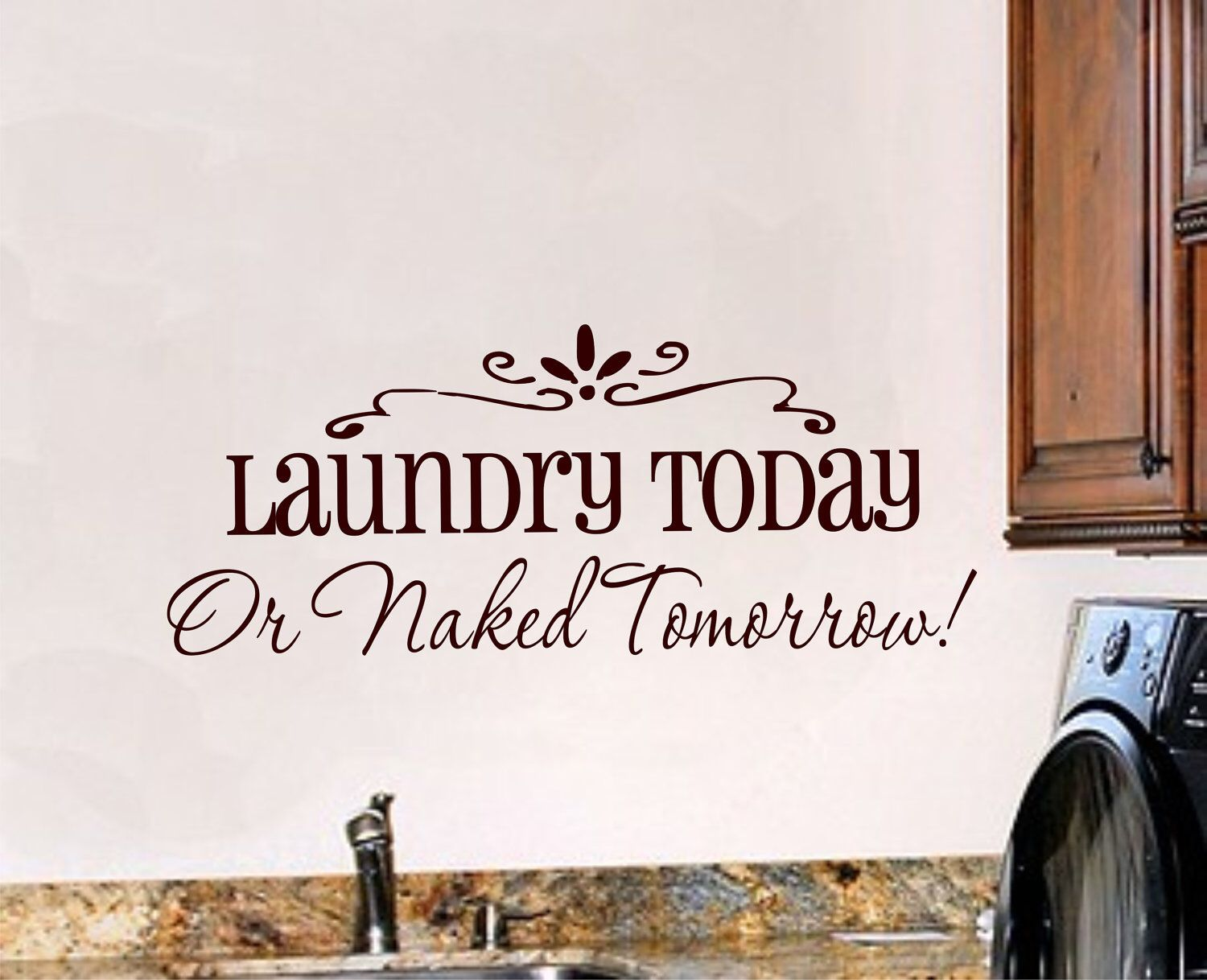 Laundry Room Wall Appliques Laundry Room Wall Decal  Vinyl Lettering  Vinyl Wall Art.