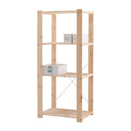 Stellingkast Gorm Van Ikea.Gorm Shelving Unit Ikea Untreated Wood Can Be Treated With Oil Or