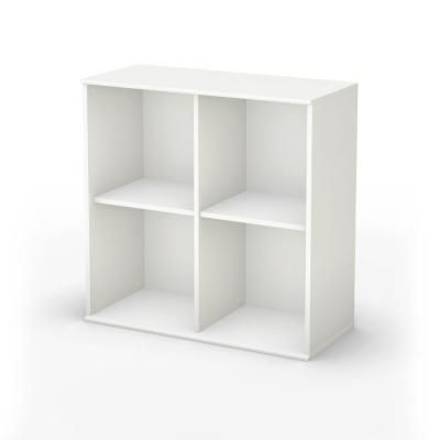 South Shore Stor It 4 Cubby Storage Unit In Pure White Discontinued 5050772 The Home Depot Cubby Storage White Shelving Unit Storage Shelves