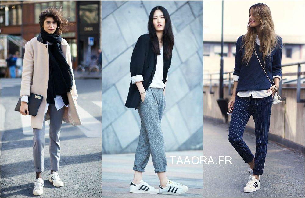 look adidas superstar femme original