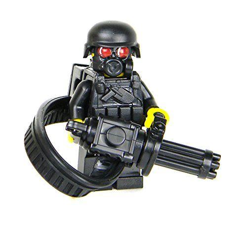 Heavy Gunner Minigun soldier (SKU69)- Battle Brick Custom Minifigure * Click image to review more details.