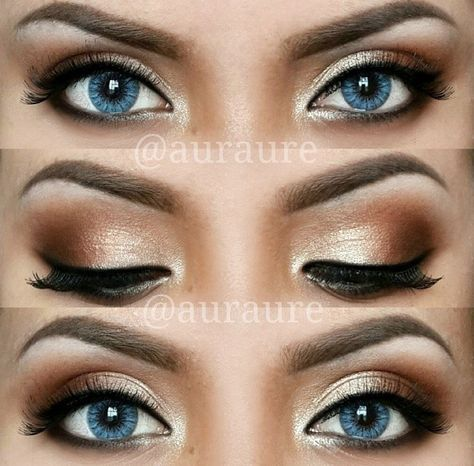 12 Amazing Makeup Ideas For Prom Or Any Fancy Occasion Auraure Is Rocking The Perfect Golden Eyeshadow Look Ge Daily Eye Makeup Blue Eye Makeup Rock Makeup