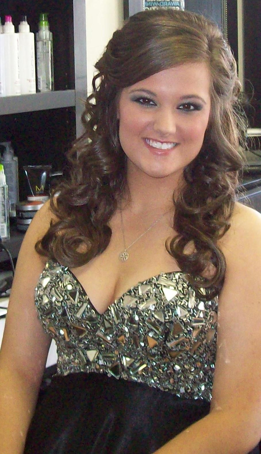 prom hair for if I wear my hair down | Homecoming ...