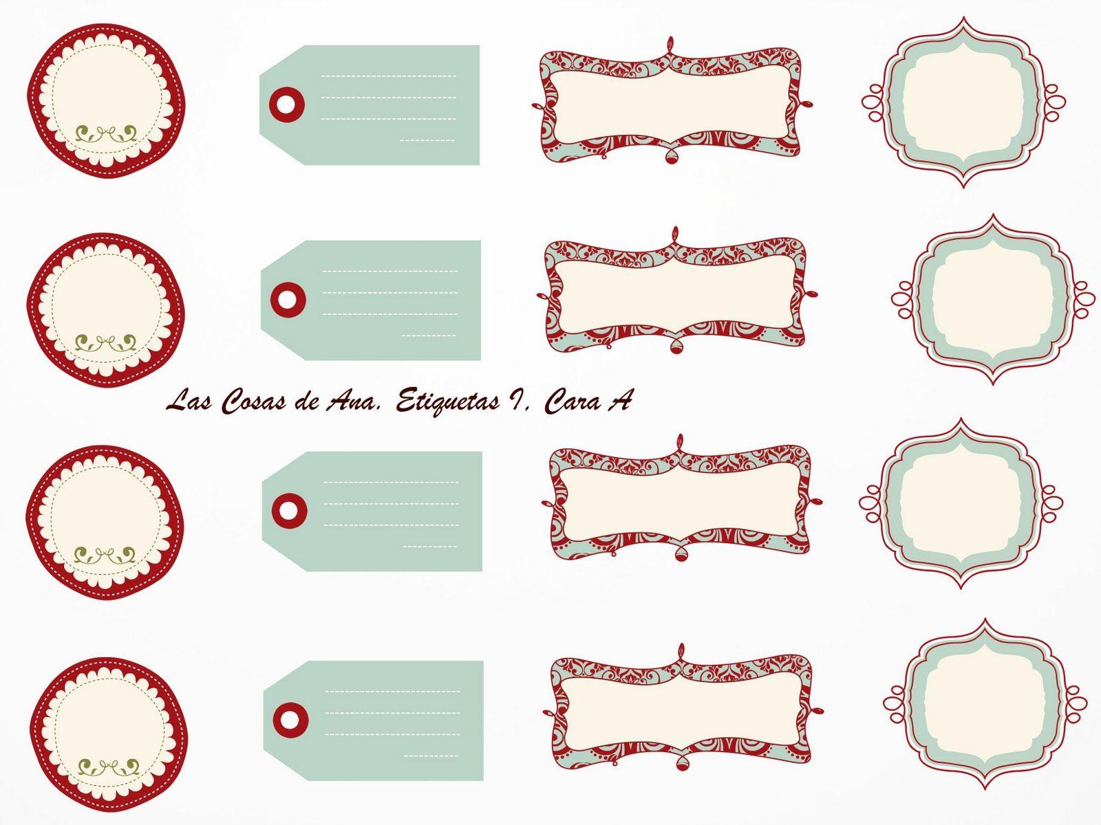 Las Cosas de Ana: ETIQUETAS PARA IMPRIMIR I | printables/fonts ...