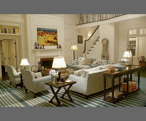 Beach House Living Room In The Movie Somethings Gotta Give As Seen