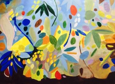 "Saatchi Art Artist ELAINE KEHEW; Painting, ""Midnight in the Garden of Good"" #art"