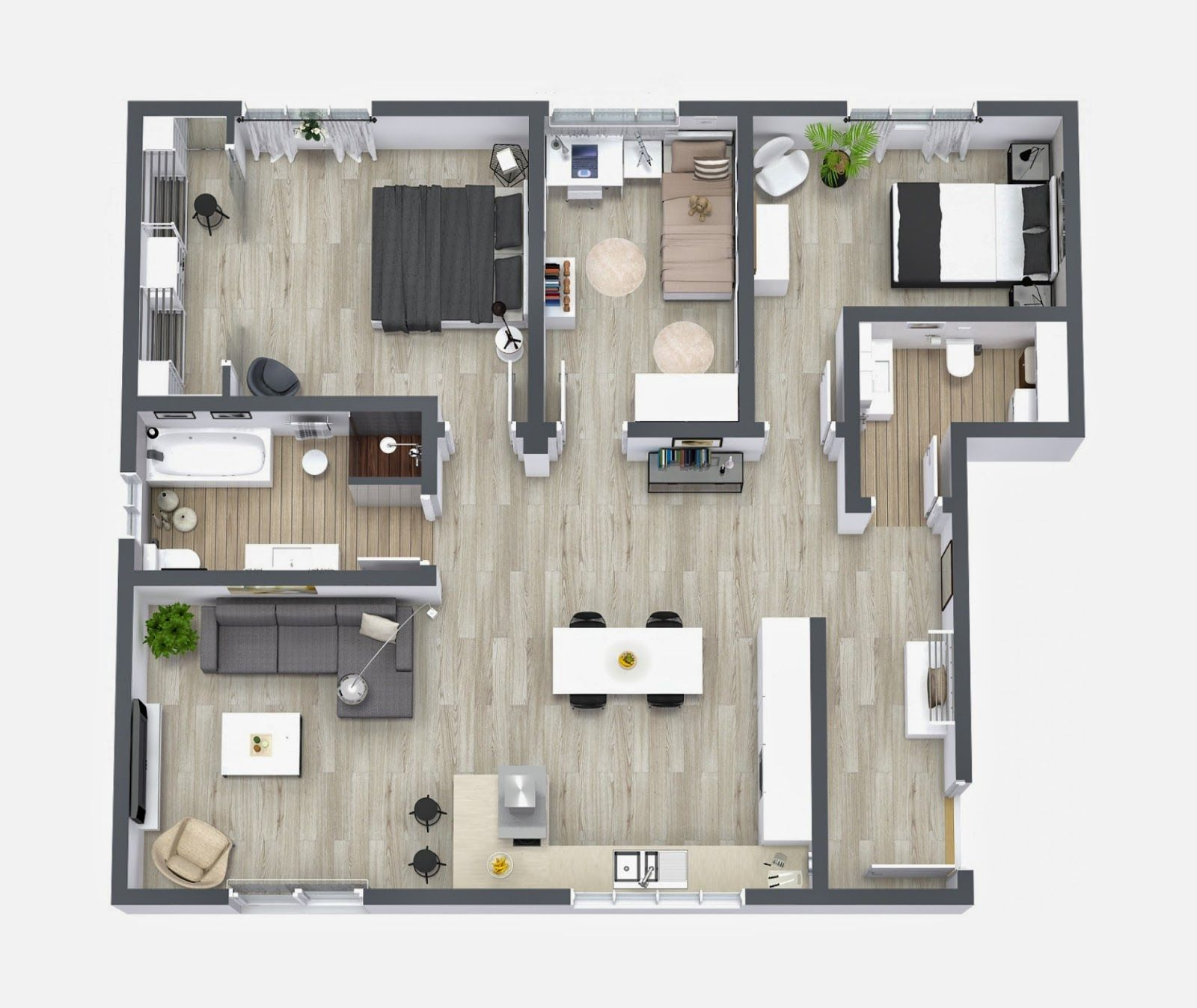 Roomsketcher home design software interactive floor plan for Interactive floor plan software
