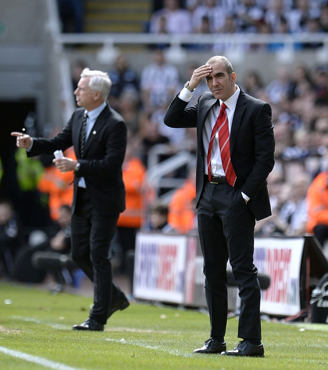 Paolo Di Canio and Alan Pardew direct their players from the touchline