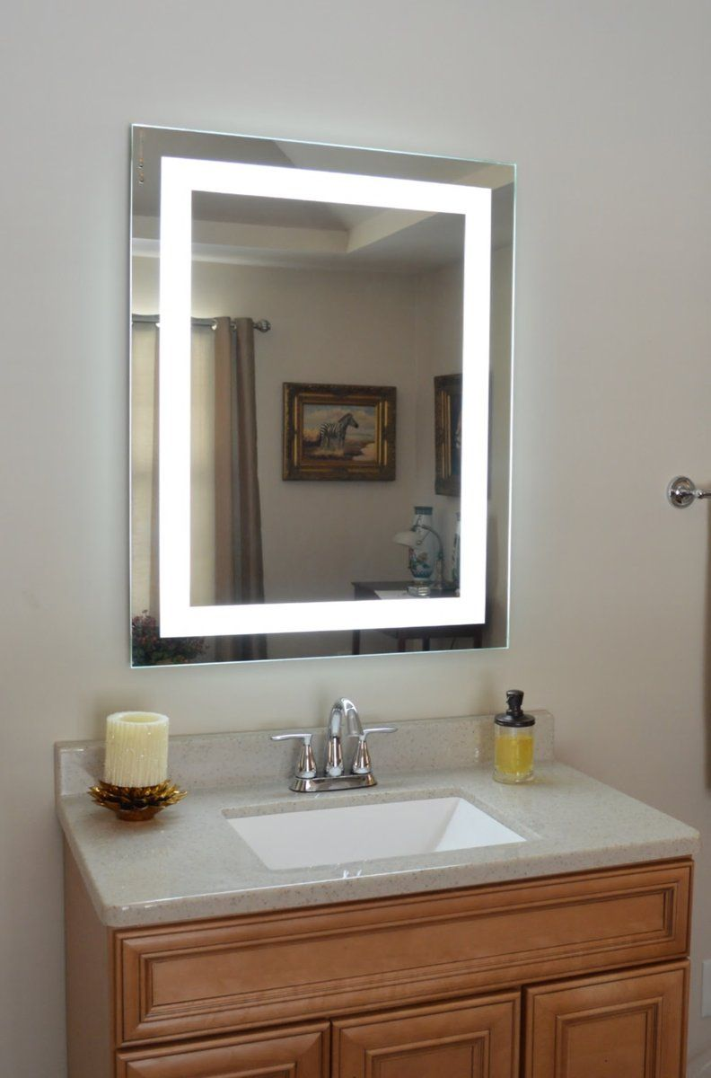 Front Lighted Led Bathroom Vanity Mirror 28 Wide X 36 Tall Rectangular Wall Mounted Mirror Interior Design Bathroom Decor Bathroom Vanity Mirror