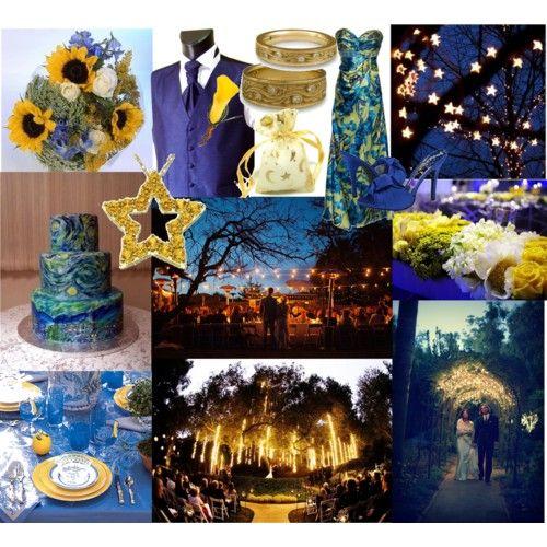 "Night Wedding Ideas Decorations: ""Starry, Starry Night"" Wedding Theme"