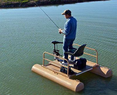 6 Ft One Person Mini Pontoon Fishing Boat