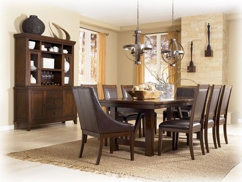 Martini Studio Rectangular Extension Table Dining Set by Ashley