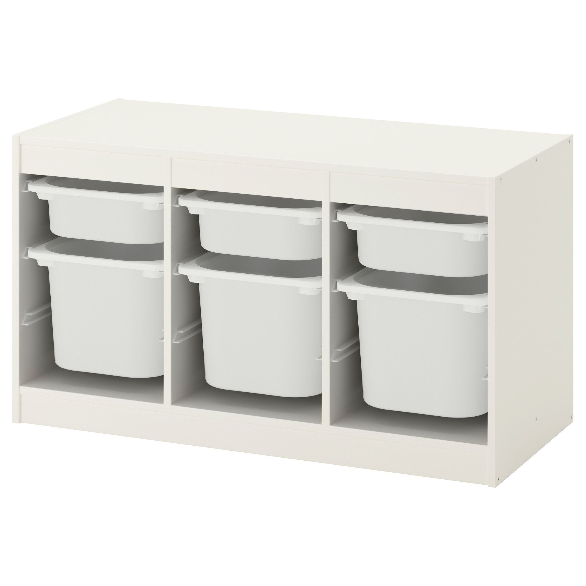 TROFAST Storage combination with boxes white, white