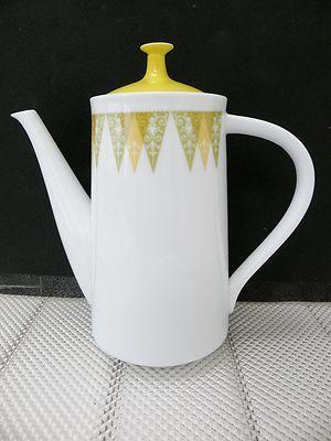 Noritake Rc Vera 435 Coffee Pot Vgc Retro Pattern 1971