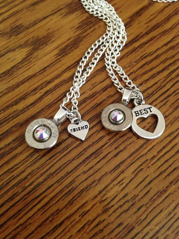 Best friend bullet necklace
