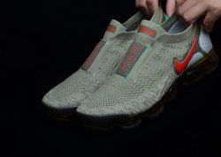 2ca460132c Unisex Nike Air VaporMax Flyknit Moc 2 Neutral Olive Dark Hazel Clear  Emerald Habanero Red AH7006 200 Running Shoes