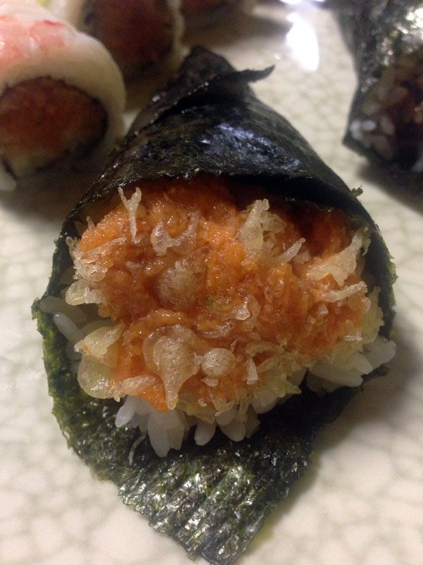 Fine Spicy Tuna Hand Roll From Teaneck Sushi Buffet Nj Sushi In Download Free Architecture Designs Embacsunscenecom