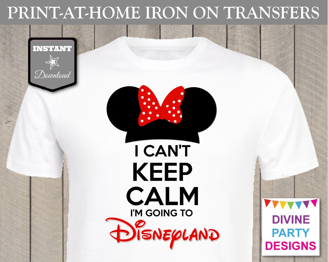 Make your own t-shirts for your Disney trip with the \