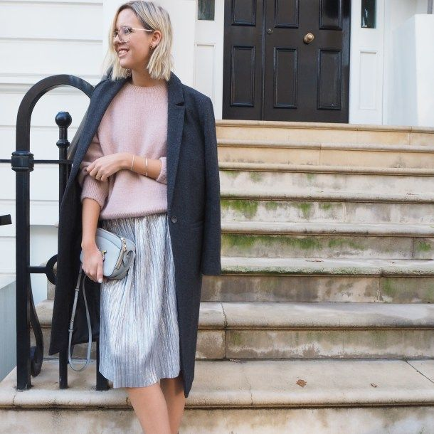 As much as I love a grey crew-neck jumper, I've been swapping it for a pink one these last few months. The perfect accompaniment to soften jeans and trainers, it also works well with metallics.