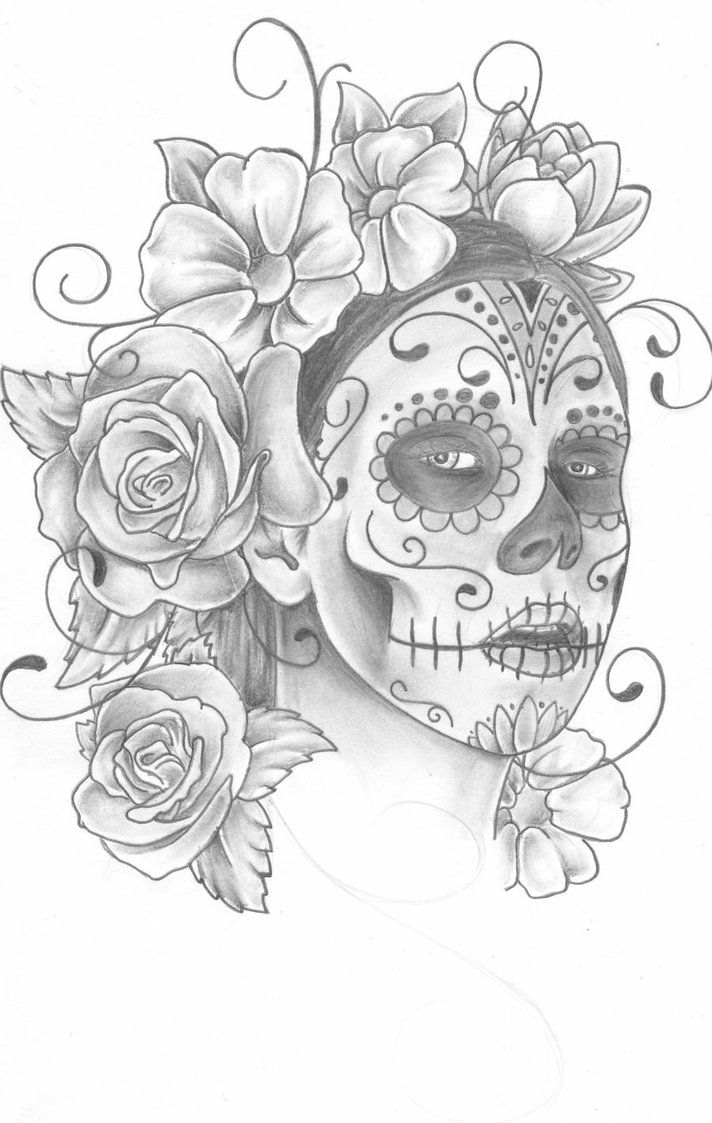 graffiti sugar skull girl drawing gianna michaels sugar